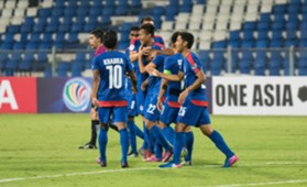 Action from the match between Bengaluru FC and Abahani Limited Dhaka at the Kanteerava Stadium, in Bengaluru, on Tuesday.