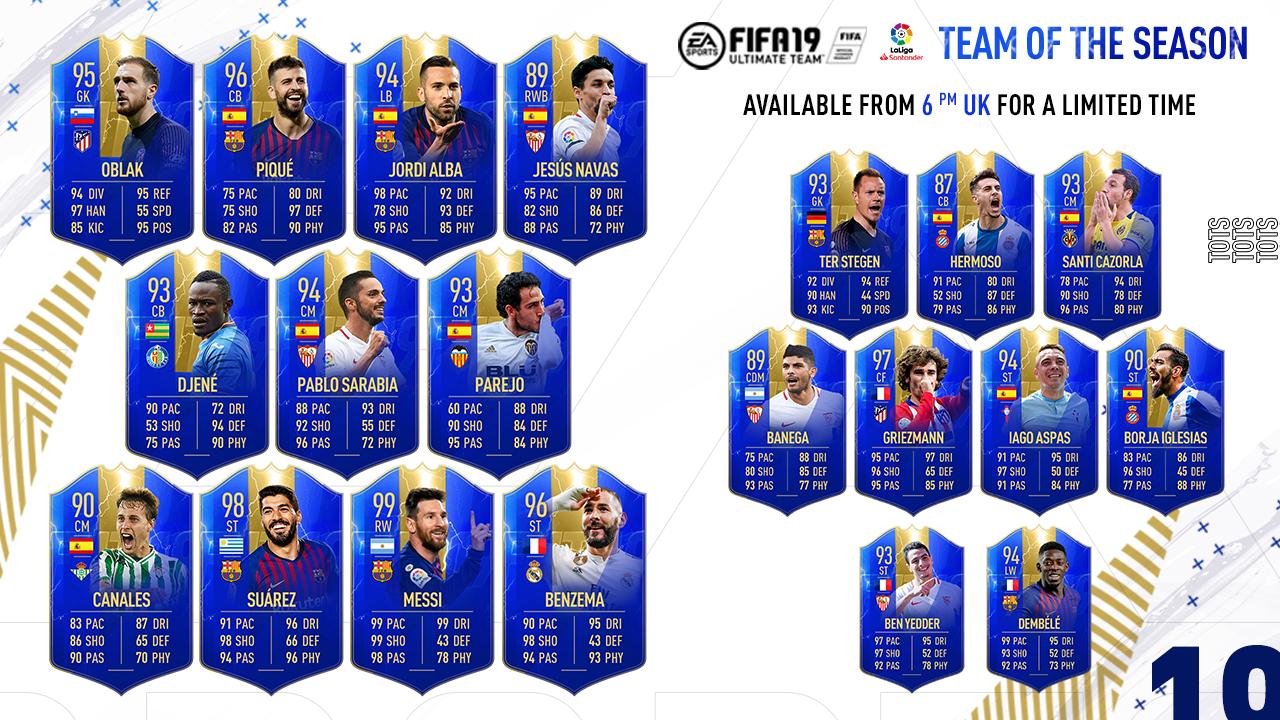 La Liga TOTS FIFA 19