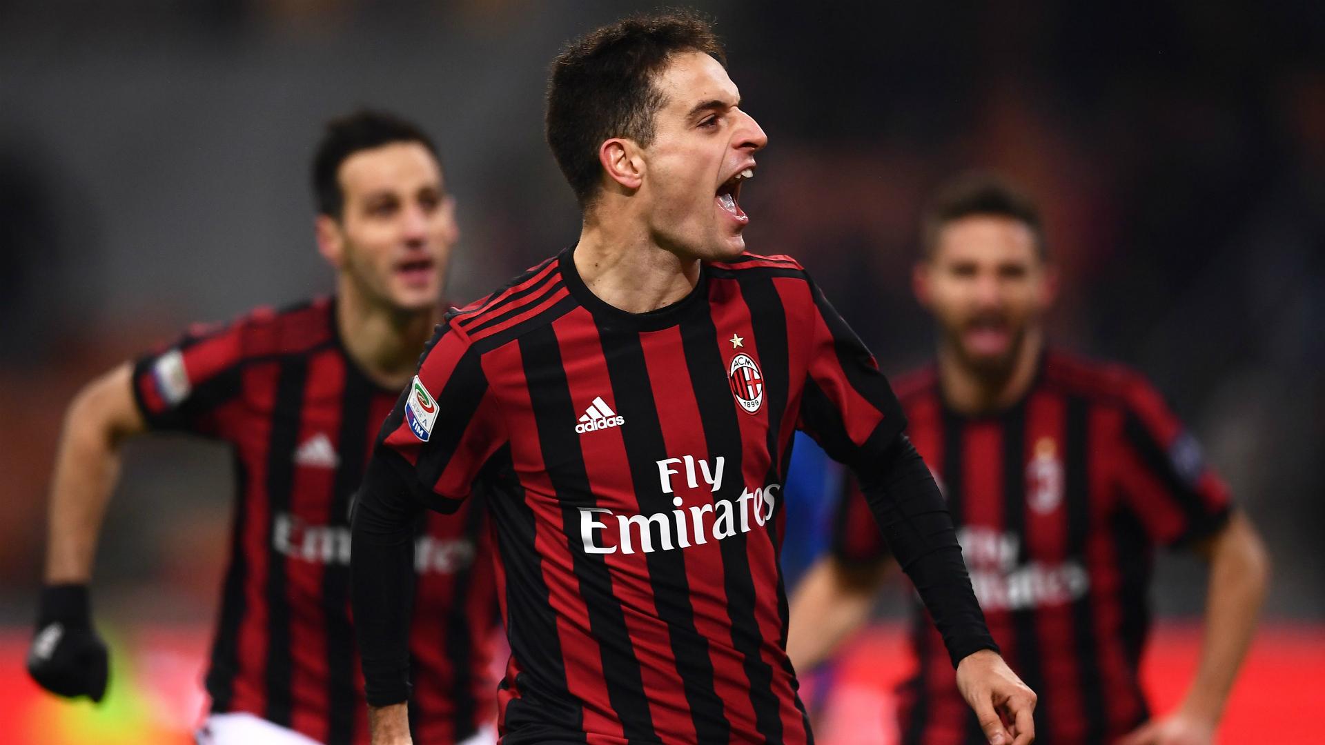 Milan celebrating Milan Bologna Serie A