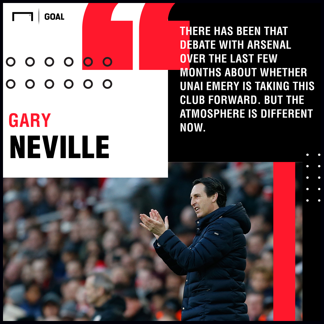 Gary Neville Unai Emery Arsenal PS