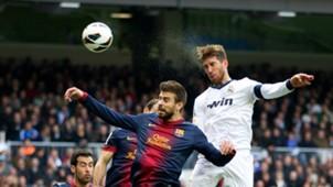 Gerard Pique Barcelona Sergio Ramos Real Madrid