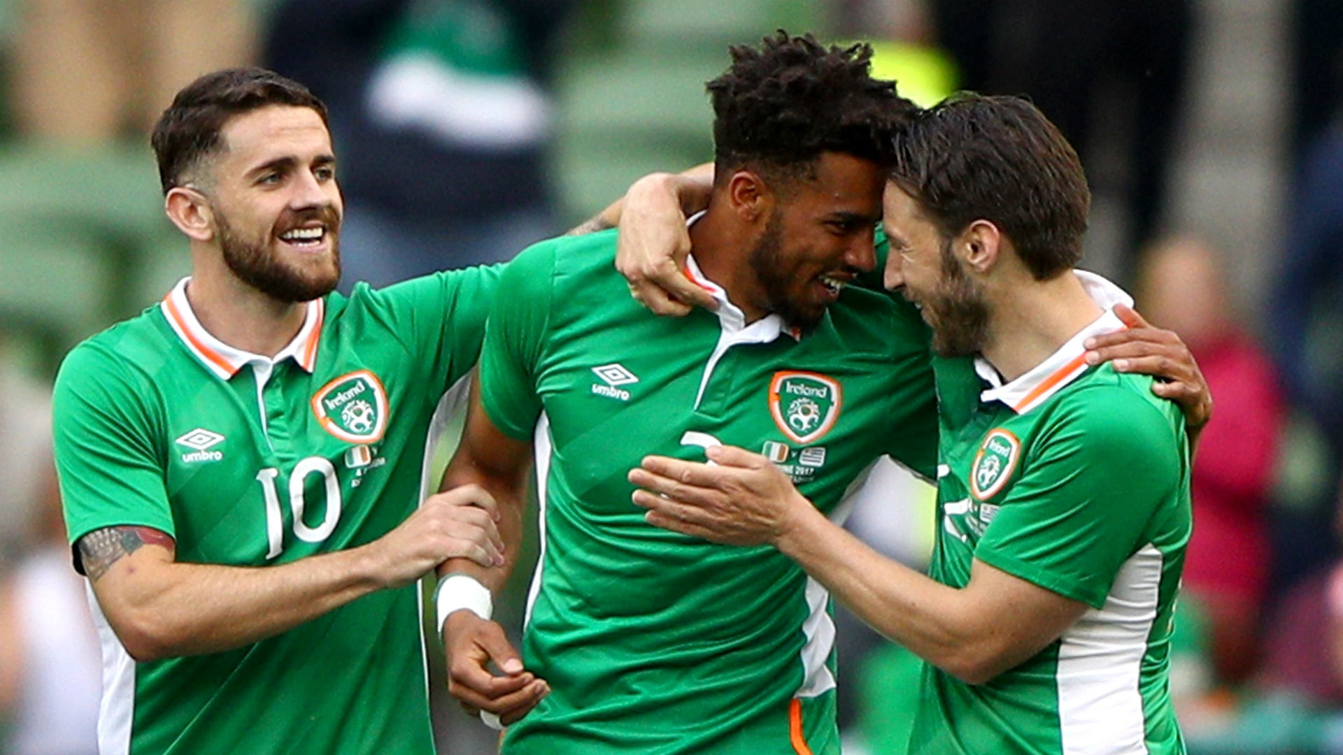 Robbie Brady Cyrus Christie Harry Arter Republic of Ireland
