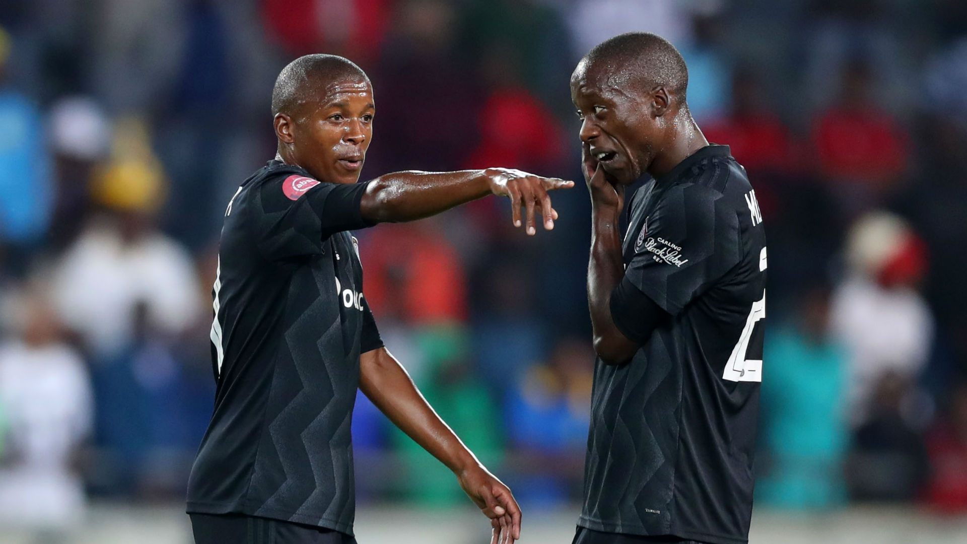 Luvuyo Memela & Ben Motshwari, Orlando Pirates, April 2019