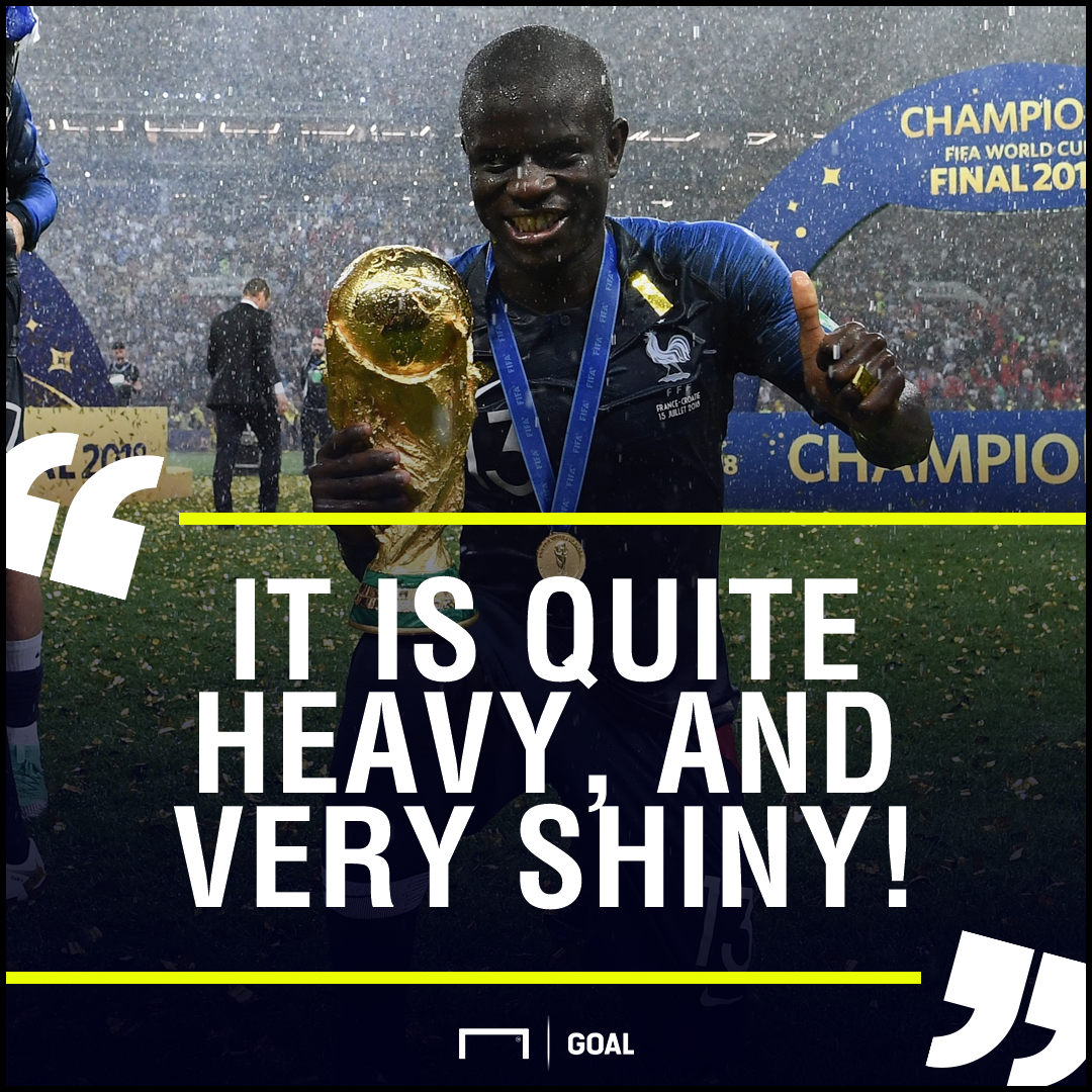 N'Golo Kante France World Cup heavy shiny