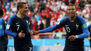 Antoine Griezmann Kylian Mbappe France Peru World Cup 2018