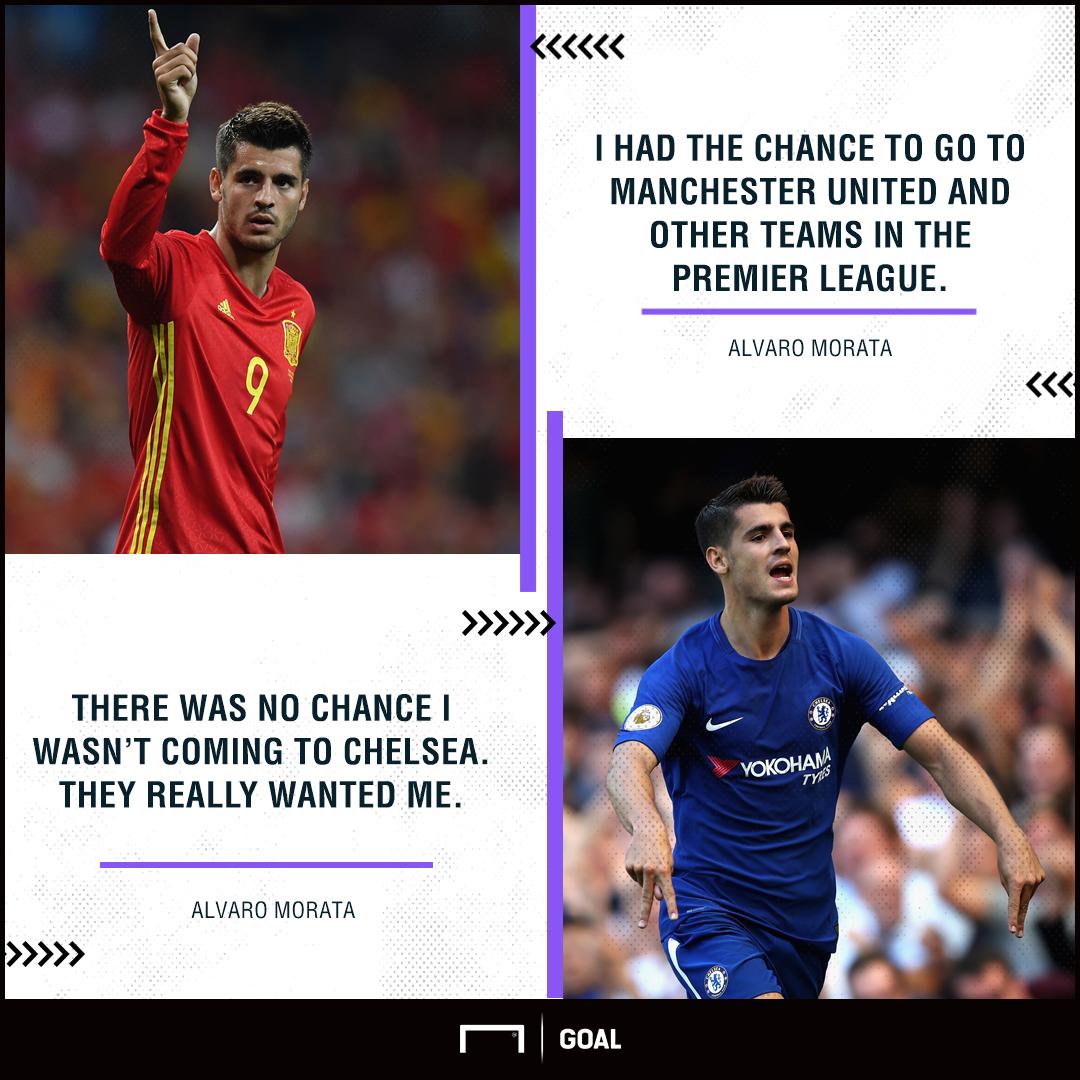 Alvaro Morata Chelsea over Manchester United