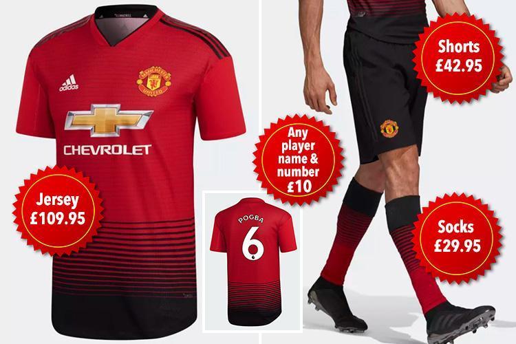 Full Manchester United kit 2018-19
