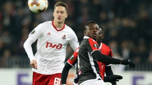 Jean-Michael Seri Anton Miranchuk Nice Lokomotiv Moscow UEFA Europa League 15022018