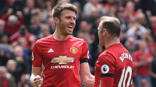Michael Carrick Wayne Rooney Manchester United