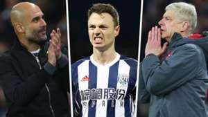 Pep Guardiola Jonny Evans Arsene Wenger