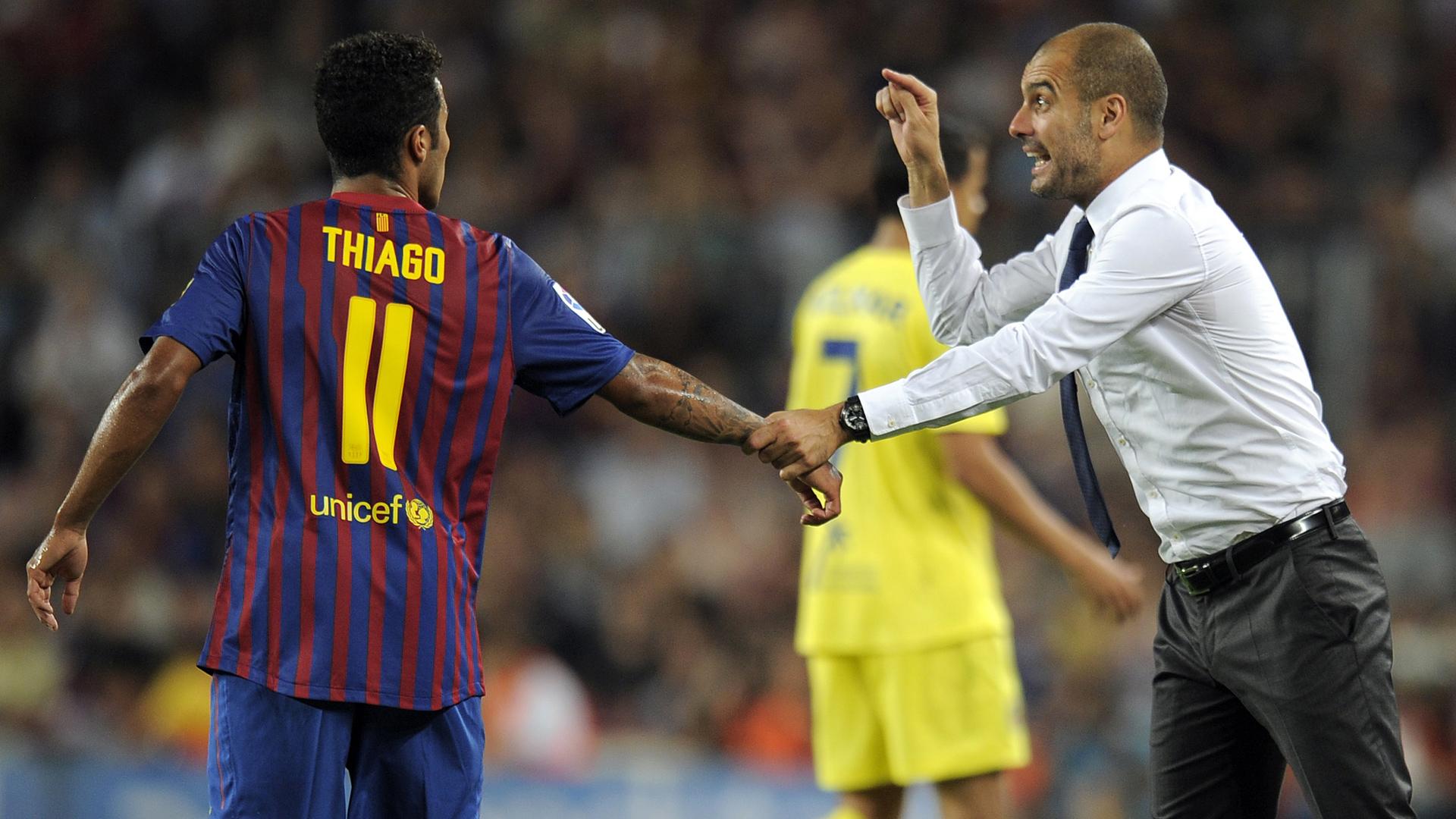 Thiago Alcantara Pep Guardiola FC Barcelona