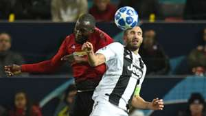 Romelu Lukak Giorgio Chiellini Man Utd Juventus Champions League