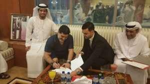 Diego Maradona Fujairah Sign Contract 07052017