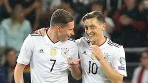 Julian Draxler Mesut Ozil Germany