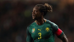 Gaetan Bong of Cameroon during the International Friendly match between Brazil and Cameroon at Stadium mk on November 20, 2018 in Milton Keynes, England