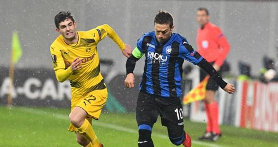 Alejandro Gomez Christian Pulisic Atalanta Borussia Dortmund Europa League