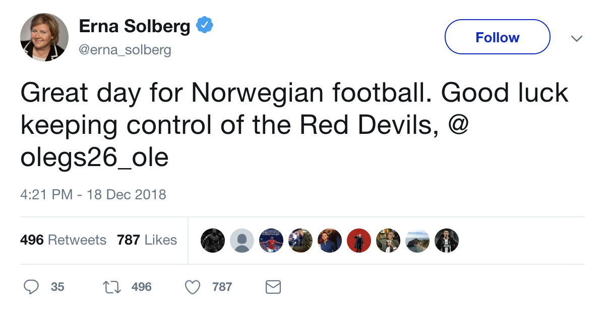 Solberg tweet