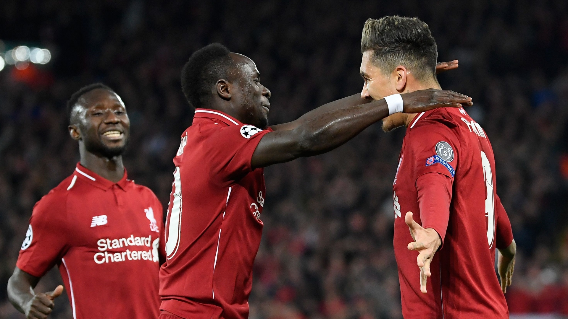 Naby Keita, Roberto Firmino, Sadio Mane, Liverpool vs Porto, UCL 2018-19