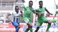 Victor Majid of AFC Leopards v Kevin Omondi of Gor Mahia.j