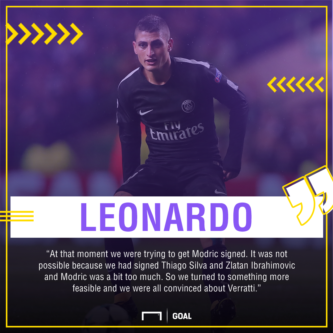 Leonardo Marco Verratti Luka Modric PSG