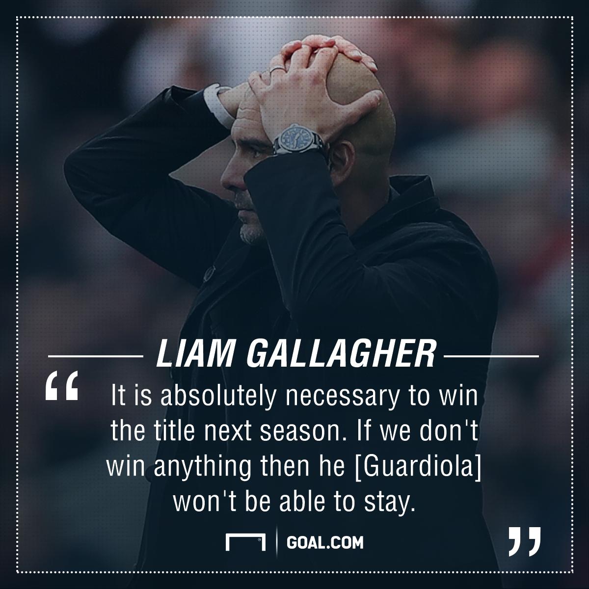 Pep Guardiola Liam Gallagher Manchester City