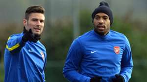 Olivier Giroud Thierry Henry Arsenal 24112013