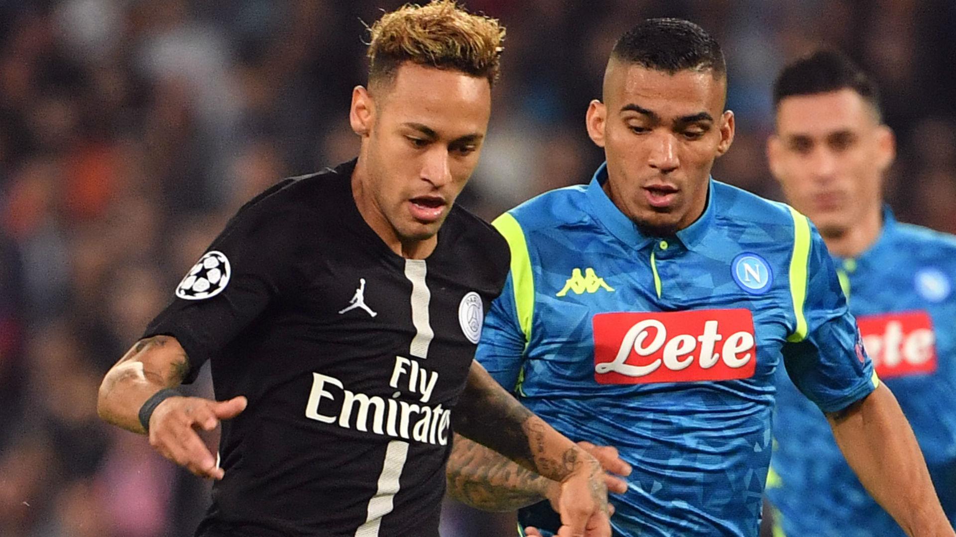 Neymar Allan Napoli PSG Champions League