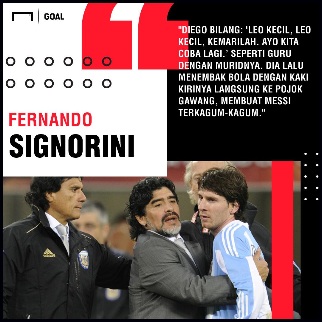 Lionel Messi Diego Maradona Quote