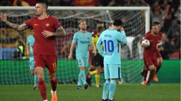Lionel Messi Barcelona Roma Champions League