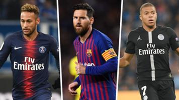 Golden Shoe 2018 Mbappe Messi Neymar