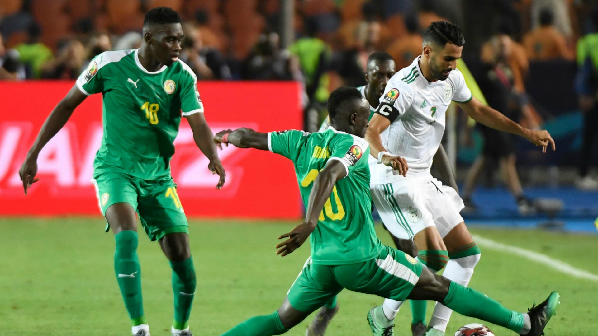 Riyad Mahrez, Sadio Mane, Ismaila Sarr - Algeria vs Senegal