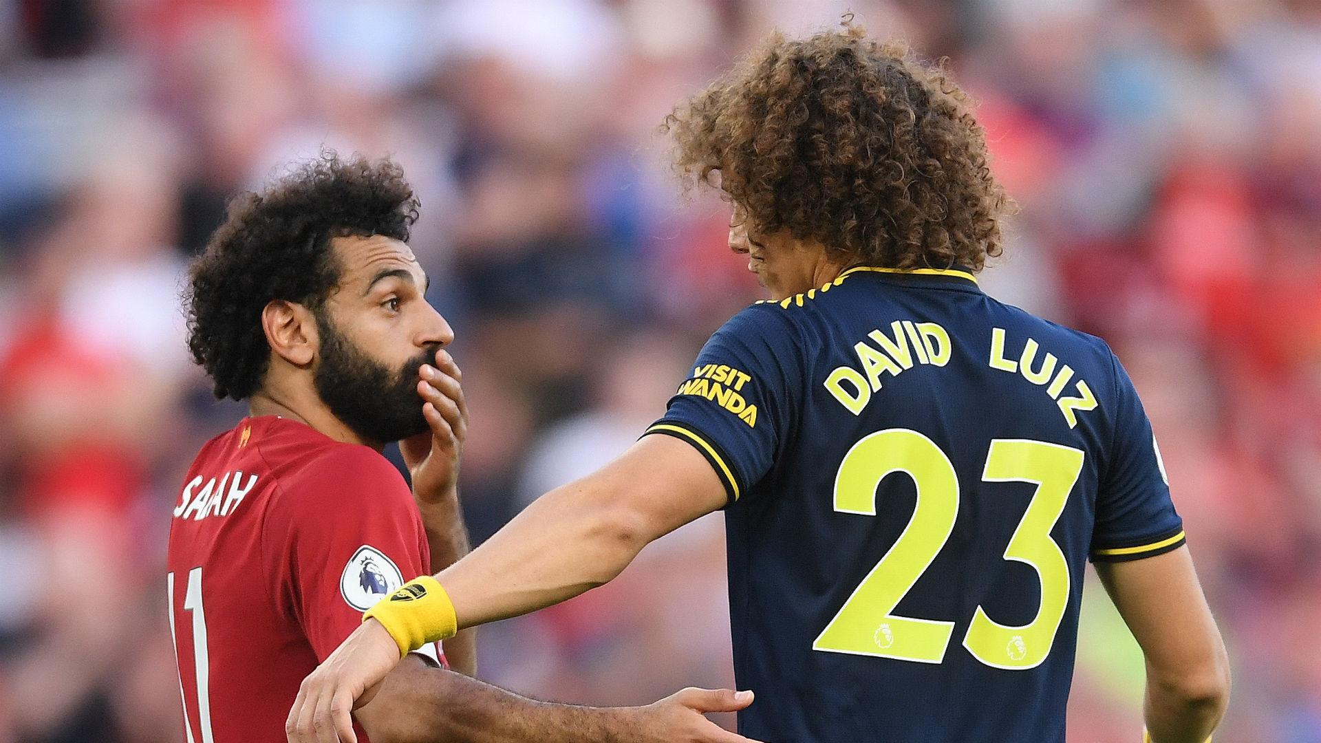 Mohamed Salah David Luiz Liverpool Arsenal