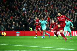 Mohamed Salah penalty Liverpool vs Arsenal Premier League 291218
