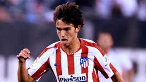 Joao Felix limps off in Atletico debut