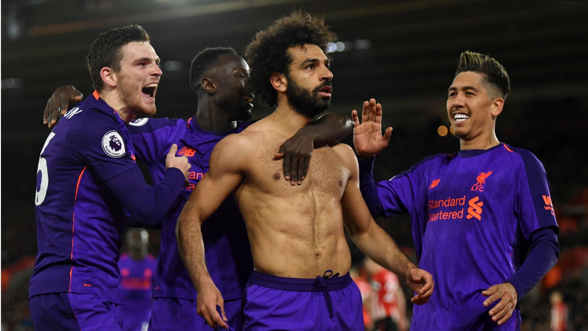 Mohamed Salah Roberto Firmino Liverpool Southampton Premier League 2019