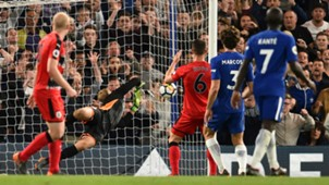 Marcos Alonso goal Chelsea Huddersfield Town Premier League