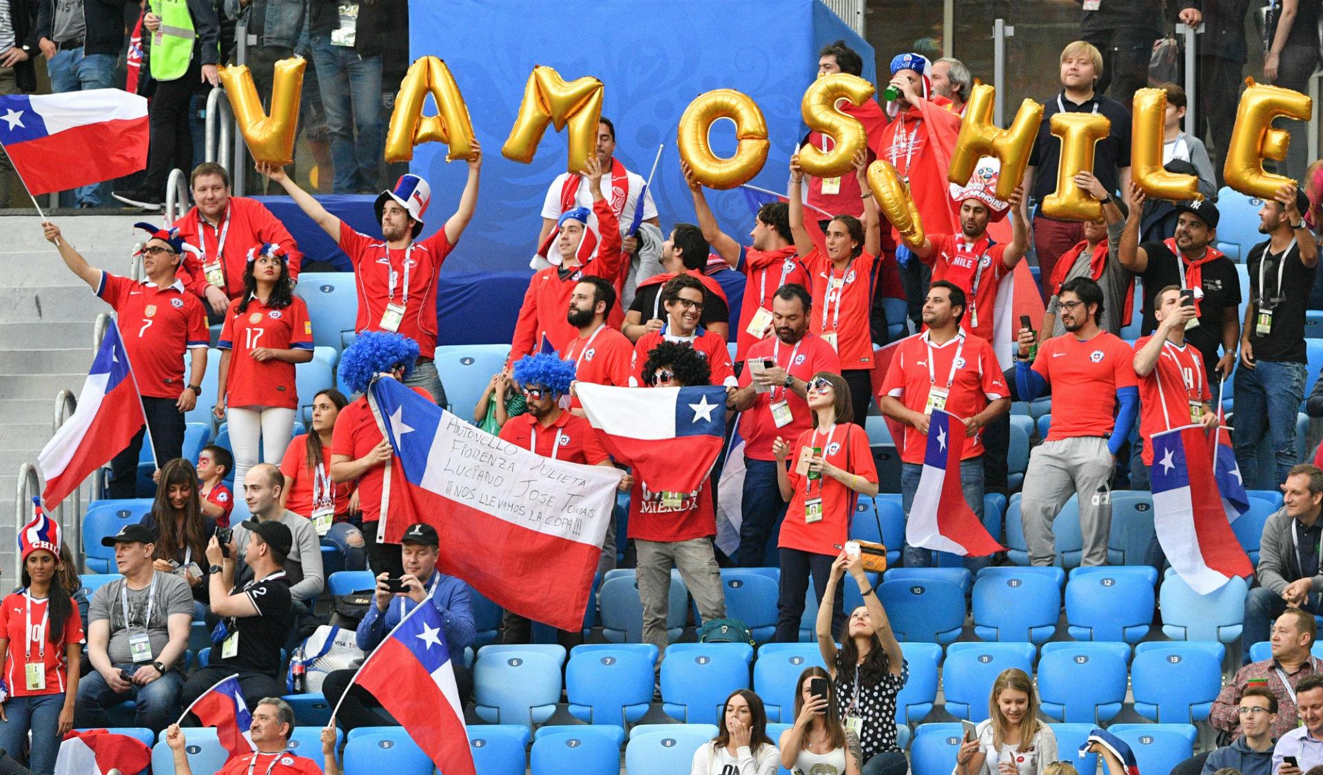 Болельщики Чили на Кубке конфедераций-2017