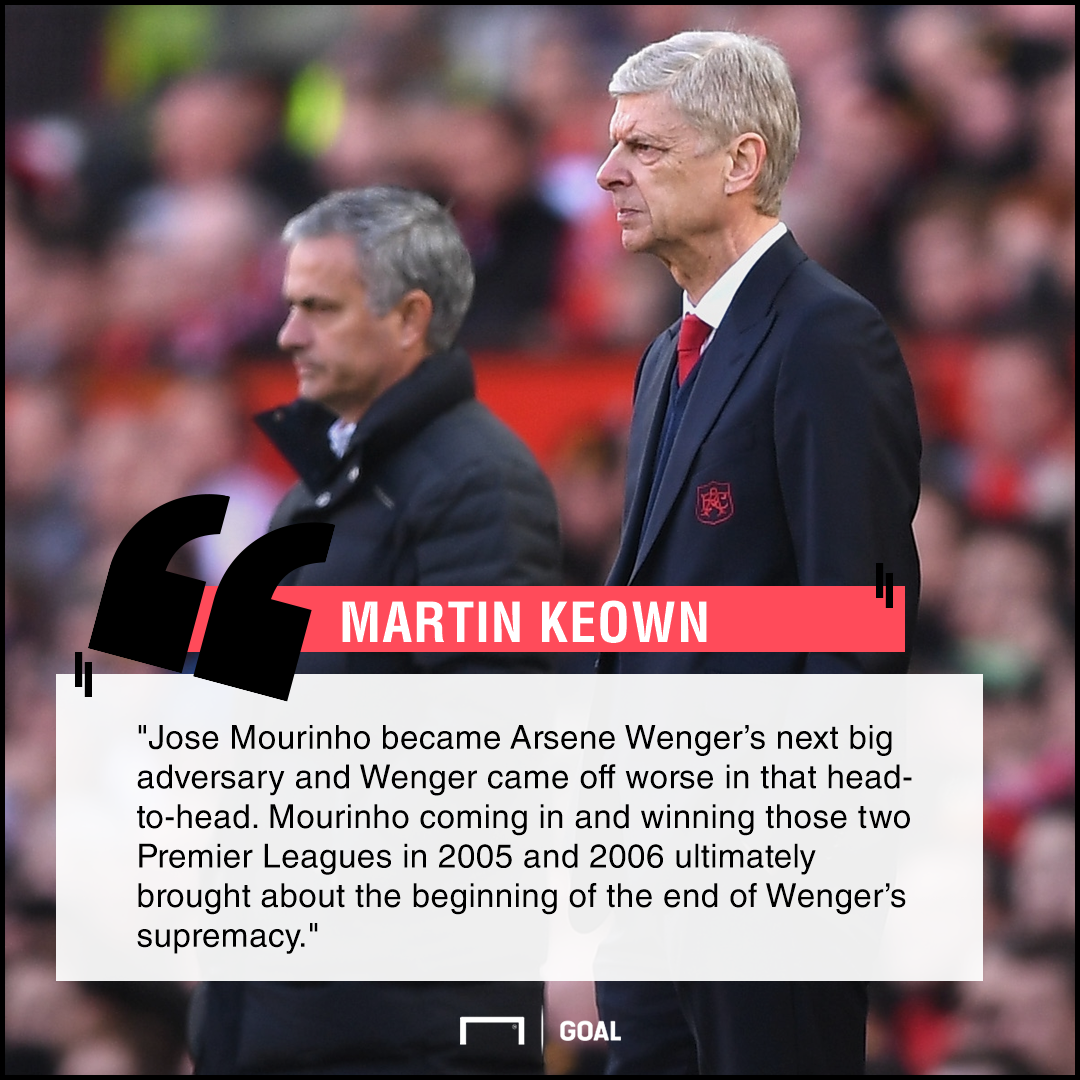 Arsene Wenger Jose Mourinho beginning of the end Martin Keown