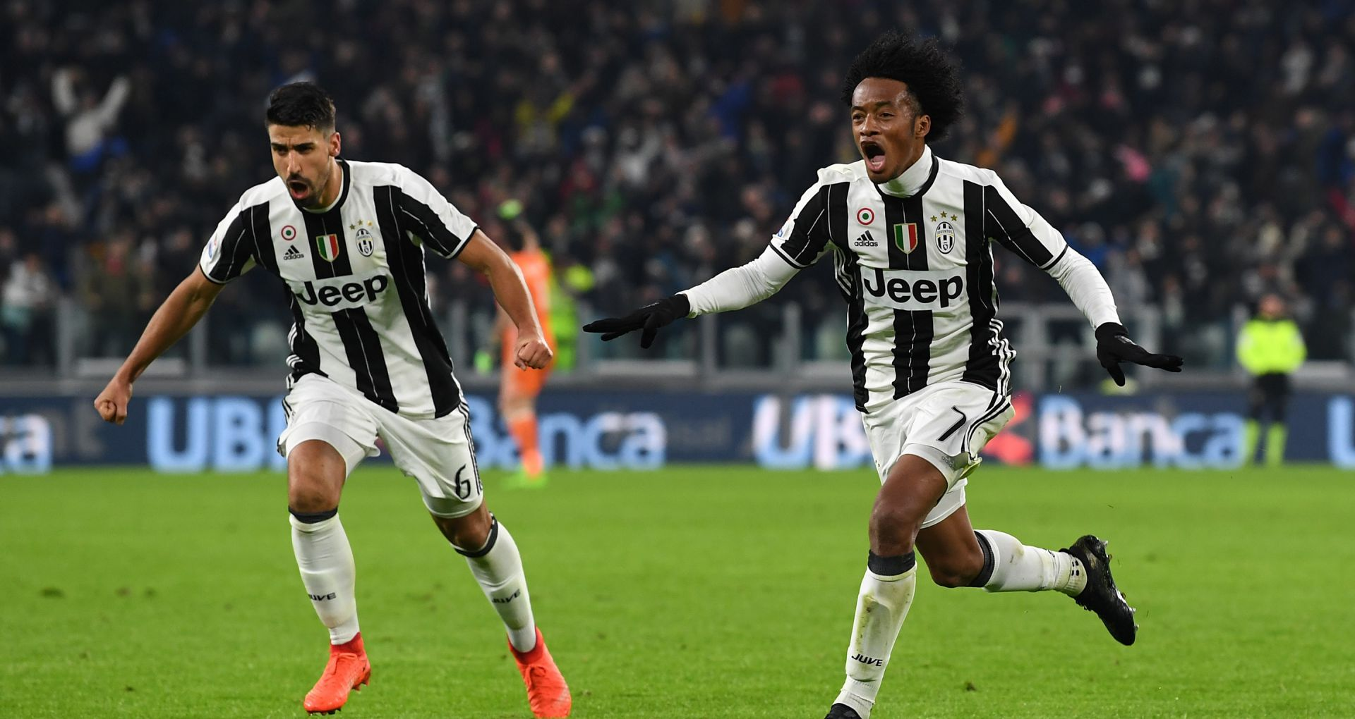 Juan Cuadrado Sami Khedira Juventus Inter Serie A
