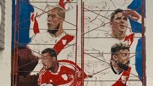 Mural campeones River aniversario 118