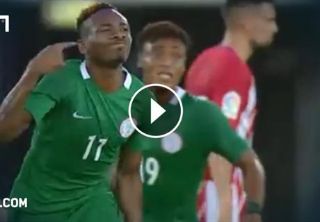 Nigeria trifft gegen Atletico zweimal spektakulär