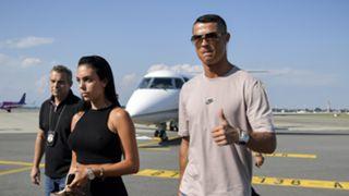 Cristiano Ronaldo Georgina Rodriguez plane Turin