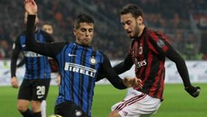 Cancelo Calhanoglu Milan Inter Italian Cup