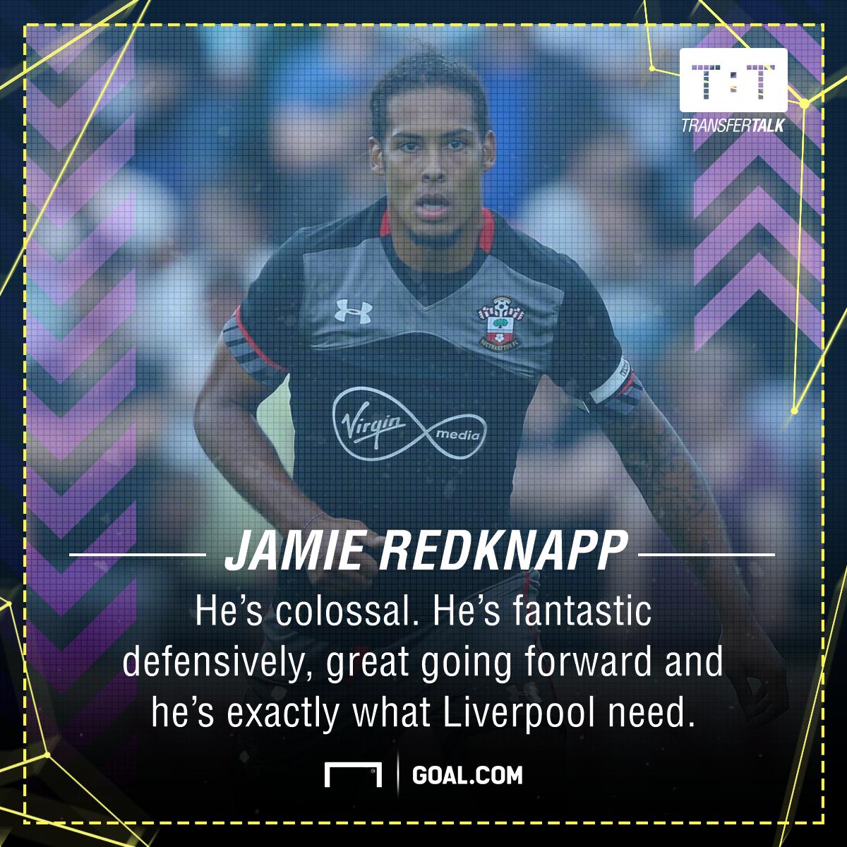 Virgil Van Dijk Jamie Redknapp Liverpool