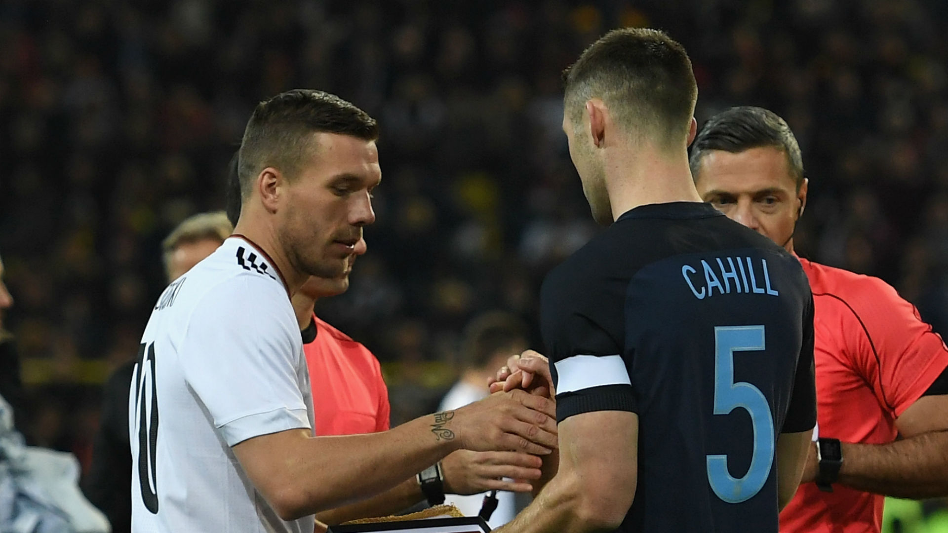 Lukas Podolski Germany Gary Cahill England