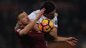 Romagnoli Dzeko Roma Milan Serie A