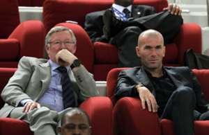 Zindine Zidane Sir Alex Ferguson