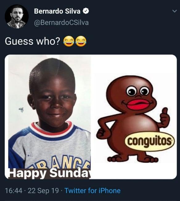 Bernardo Silva's Mendy tweet