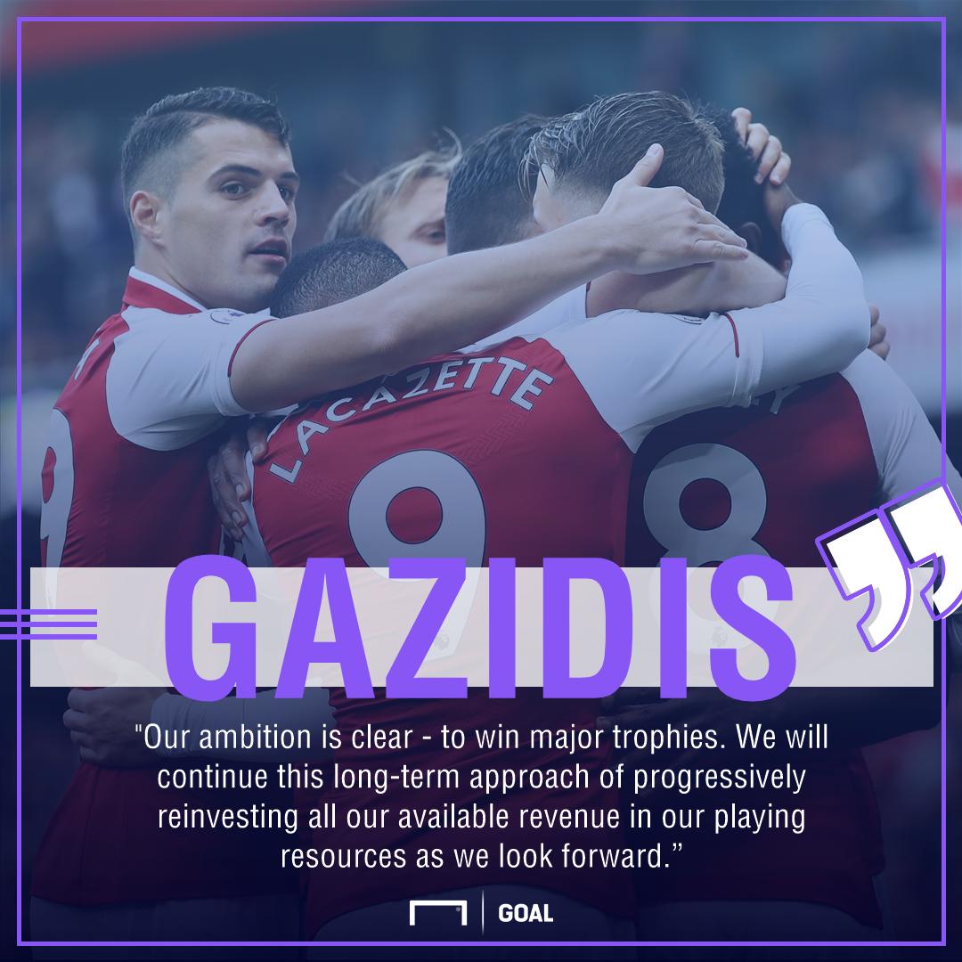 Ivan Gazidis Arsenal funds trophies