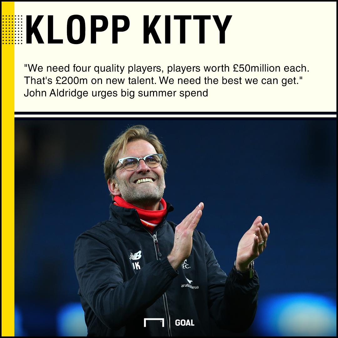 Liverpool need £200m spend John Aldridge